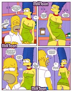 Simpson xxx marge en el bar moe