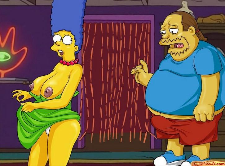Orgia con Marge y Homer Simpson