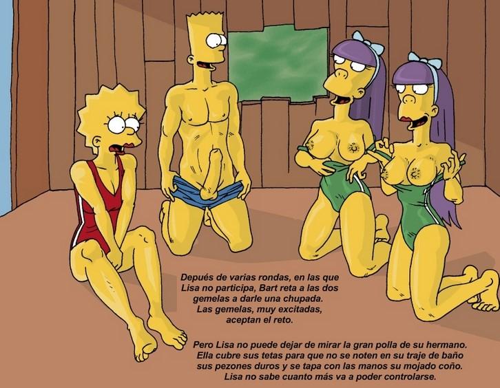 Orgia en la casa del arbol de los Simpson.