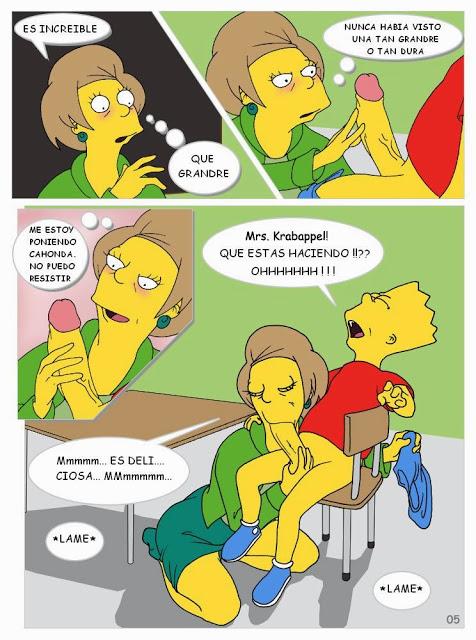 Bart aprueba, se folla a su profesora