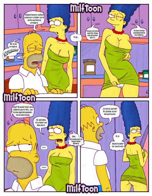 Simpson xxx marge en el bar moe