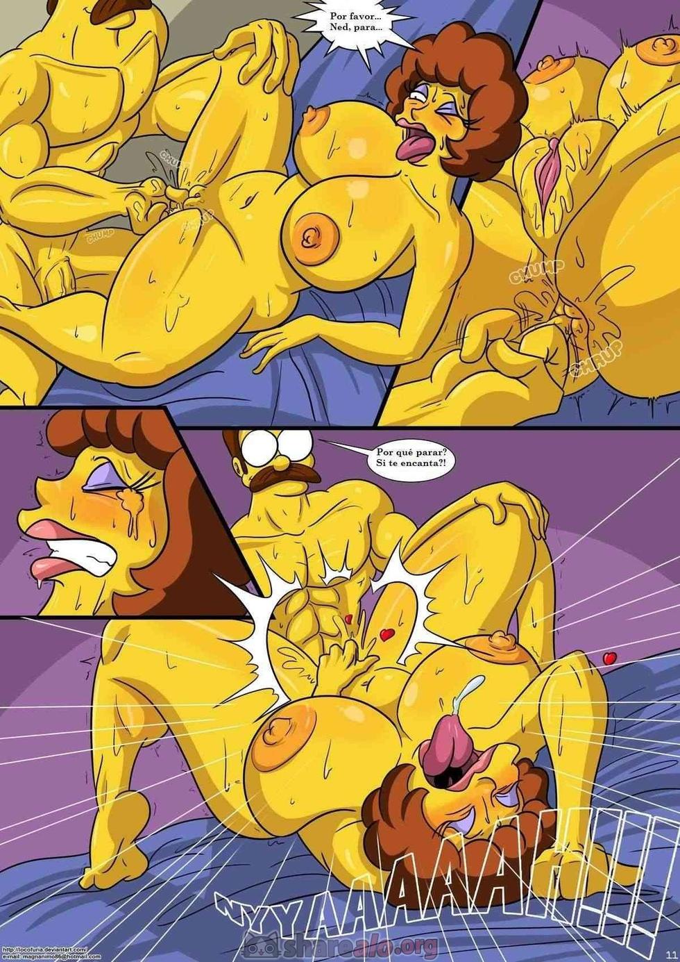 Sexo con Flandes de los simpson