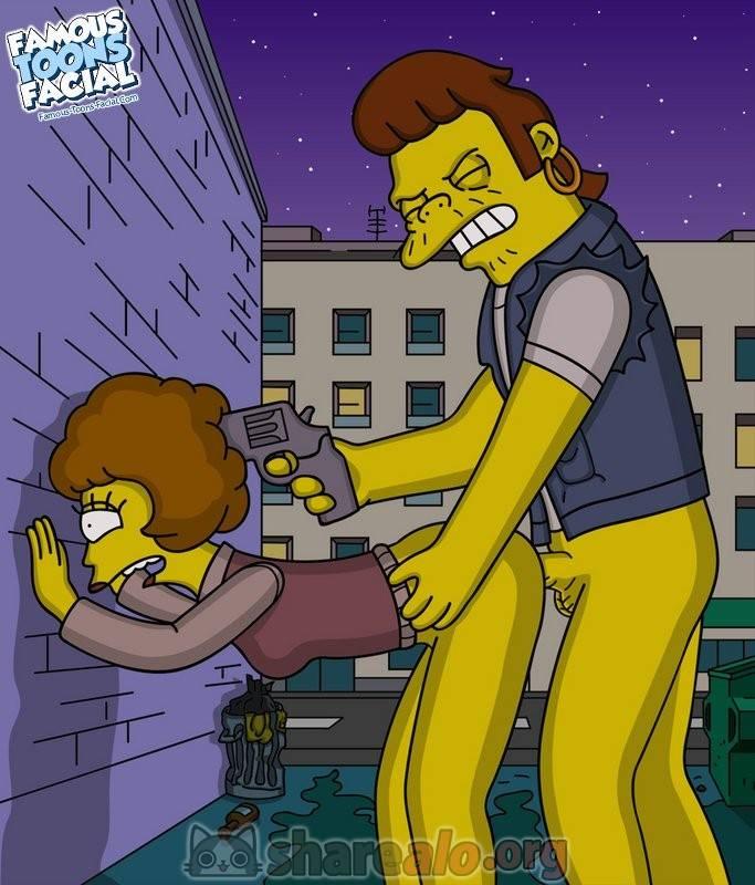 Violacion de Snake a Maude Flanders